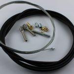 Selbstbausatz Seil 1,5 mm mit Halbrundnippel  5 x 6,5 mm