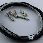 Selbstbausatz Seil 1,5 mm mit Ringöse Bohrung 5 mm Breite 4 mm