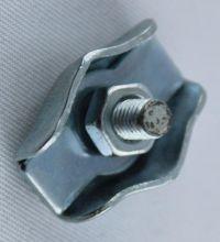Simplex Klemme verzinkt mit Schraube f. Seil 3,0 -3,5 mm