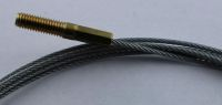 Wire rope with threaded rod